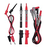 ESYNIC Electronic Multimeter Alligator Clips Test Leads Test Hook Automotive Kit Gauage