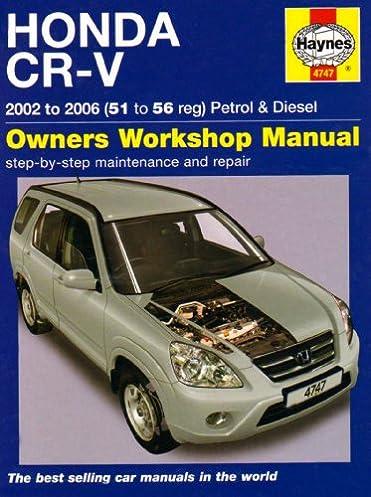 honda crv 2002 2006 on amazon co uk haynes 9781844257478 books rh amazon co uk 2005 CR-V Manual 2005 CR-V Manual