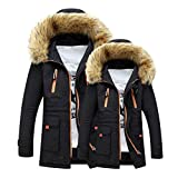Kyпить HOT SALE!Napoo Unisex Women Men Outdoor Military Hooded Winter Zipper Parkas Anoraks Warm Coat (L, Black) на Amazon.com