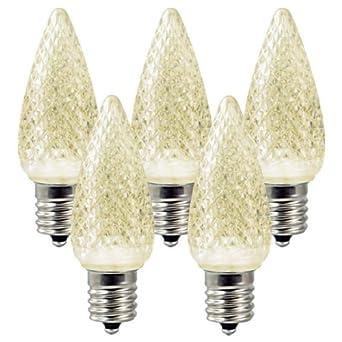 25 bulbs c9 led warm white base christmas lights hls led