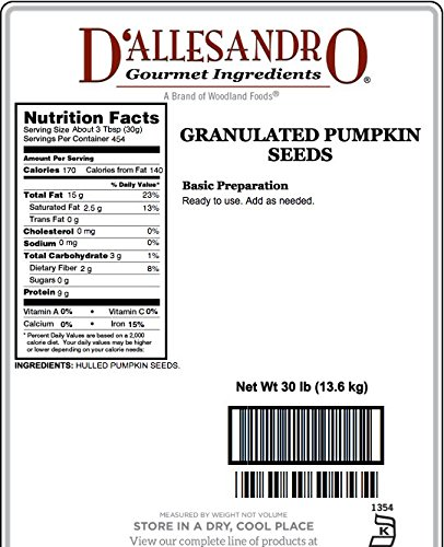Granulated Pumpkin Seeds, 30 Lb Bag by Angelina's Gourmet (Image #1)