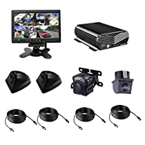 TrackSec Local Recording 4 Channel AHD 720P H.264 Mobile DVR Kit with 4 Mini Car Cameras, Black (T17-C018)