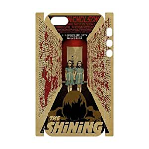 WJHSSB Diy case The Shining customized Hard Plastic 3D Case For iPhone 5,5S [Pattern-4]