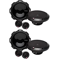 4) Rockford Fosgate P1675-S 6.75-Inch 240W 2-Way Component Speakers System (Pair)
