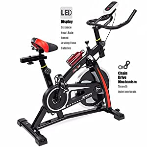 Exercise Bike Stationary Cycling Cardio Health Workout Fitness Indoor Led Screen