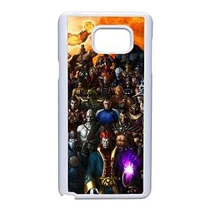 Personajes de Mortal Kombat Caras Magia Cielo Nota caja del teléfono celular 5 21227 Samsung Galaxy funda blanca del teléfono celular Funda Cubierta EEECBCAAL70379