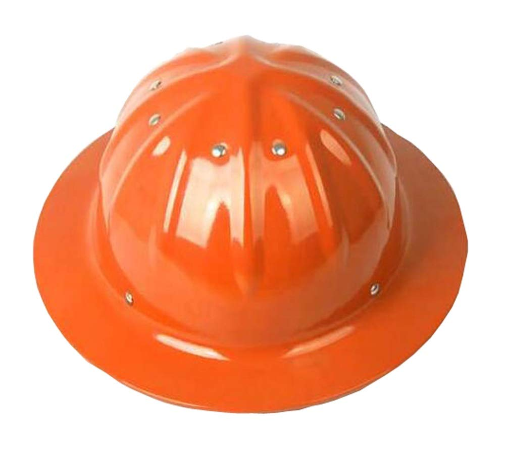 YUKE-Hard Hats NIUYUKE Aluminum Helmet, Big Hat, Sunshade, Sun Protection, Impact Site, Outdoor Helmet (Color : Orange)