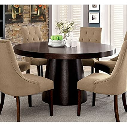 Amazon.com - BOWERY HILL Round Dining Table in Espresso - Tables
