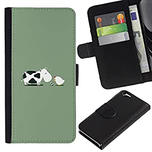 KingStore / Leather Etui en cuir / Apple Iphone 6 / Pollo del bebé Huevo Granja divertido;