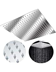 Hengmei Douchekop, regendouche, anti-kalk, douchekop, regen, roestvrij staal, douchekop, regendouche, douchekop, regendouche, vierkant, draaibaar 30×30cm