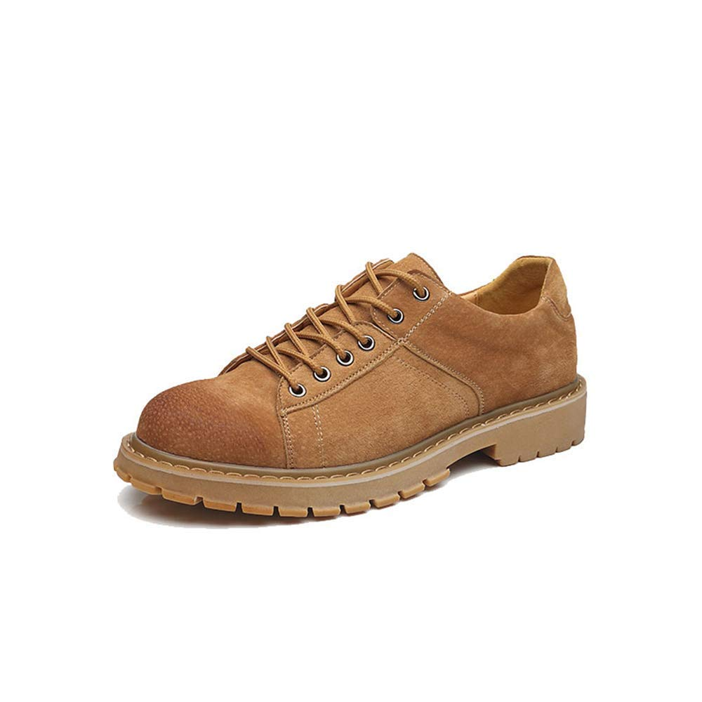 Fuxitoggo Herren Modische Kurze Stiefel, Casual Classic Round Head Rutschfeste Laufsohle Arbeitsschuhe (Farbe   Grau, Größe   39 EU) (Farbe   Gelb, Größe   44 EU)