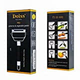 Deiss PRO Dual Julienne Peeler & Vegetable Peeler - Non-slip Comfortable Handle - Amazing Tool for Making Delicious Salads and Veggie Noodles