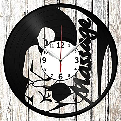 Details about  /Massage Vinyl Record Wall Clock Decor Handmade 6499