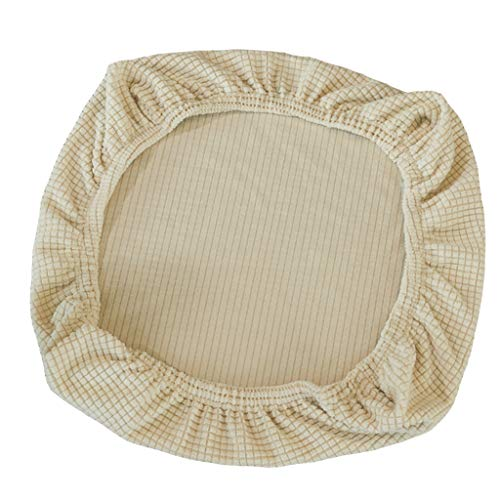 FLAMEER Fundas de Silla Cubierta de Asiento Protectora Elasticas Extraible Lavable Cubre Silla para Comedor - Beige