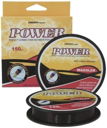 Angelschnur Power Waggler sinkend 0,14mm Tragkraft 2,99kg,150m Farbe schwarz
