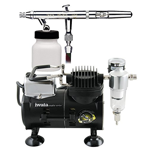 Iwata Sprint Jet Compressor - Iwata Eclipse HP-BCS Airbrushing System with Sprint Jet Air Compressor