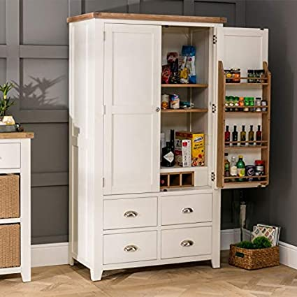 The Furniture Market Cheshire Cream Painted Kitchen Larder Pantry
