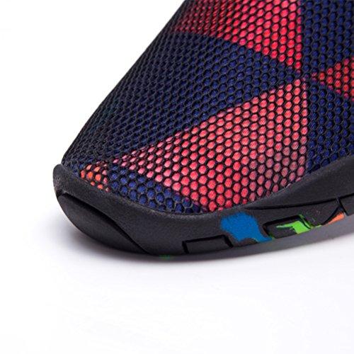 Skysun Zapatos De Agua Para Mujer Descalza Piel Aqua Water Zapatos Secado Rápido Para Nadar, Yoga, Lago, Playa, Snorkeling, Canotaje, Surf Skw1003-1-bk / Rd