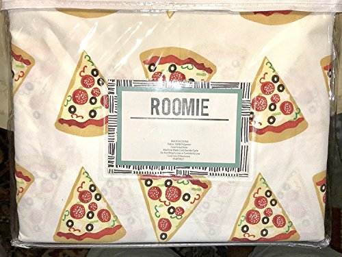PIZZA sheet set - FULL SIZE light weight polyester (Sheets Pizza)