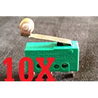 10x Micro Switch Spdt Hinge Roller Lever 15a Kw4-3z 5a 3a 12v B1