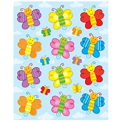 Carson Dellosa Butterflies Shape Stickers (168032): Carson-Dellosa Publishing: Office Products