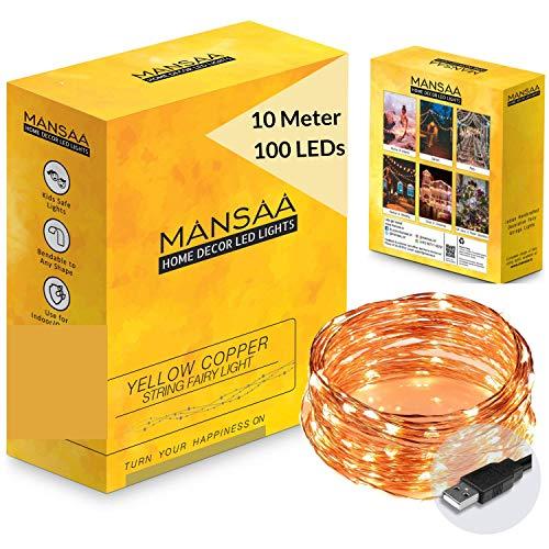 LD Mansaa Essentials 100 LED Copper Fairy String 10 m Lights w