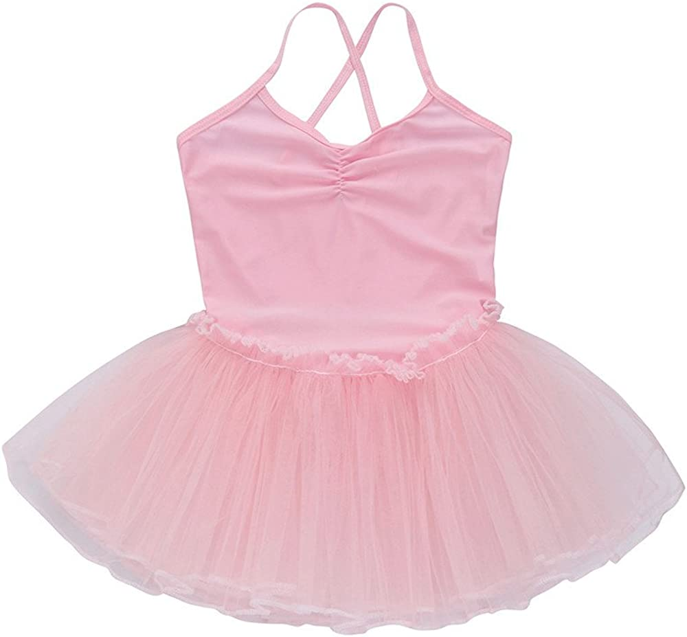 Kids Toddler Girls Ballet Dress Tutu Leotard Dance Gymnastics Strap Clothes Outfits for 1-6 Years Old
