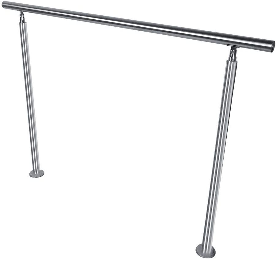 barandilla Barandilla de acero inoxidable 100 x 102,5 cm barandilla para escaleras balc/ón