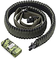SOMA Rifle Sling with Swivels 2 Point Paraocrd Shotgun Sling Adjustable Gun Strap for Hunting