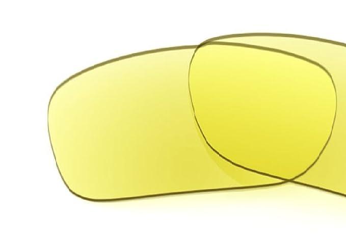 MZM Lentes Polarizadas de Recambio para Oakley Racing Jacket (vented) (Amarillo)