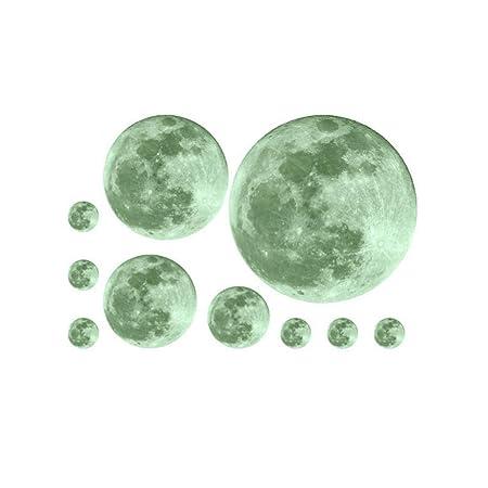 El Papel Para Pared Removible Etiqueta De La Pared Creativa Luna ...