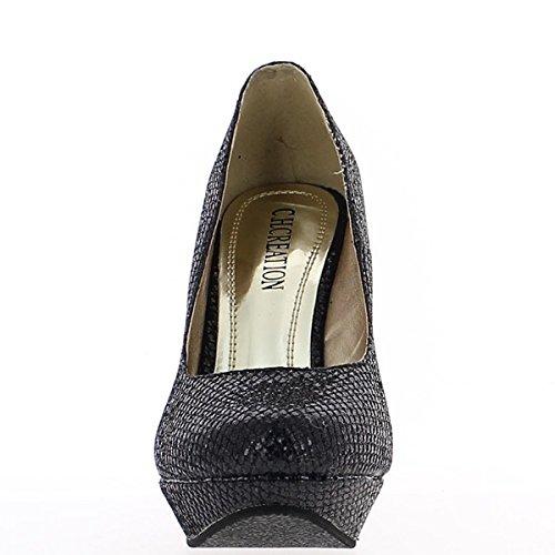 Hæl Black Shoes 12cm Kvinner Kompensert Ligge CZ7zwSq