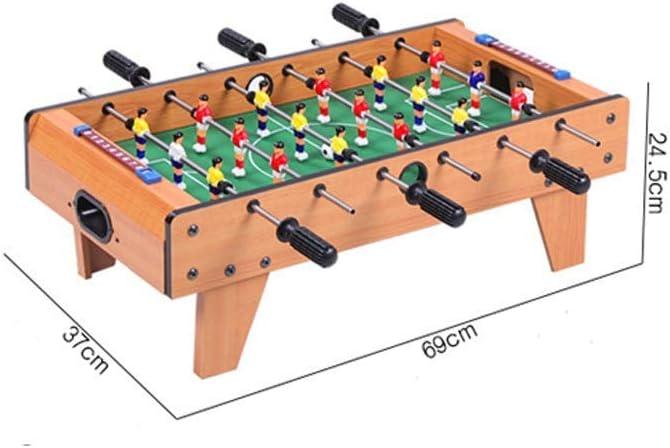 SEESEE.U 6 Filas de Madera de futbolín 5-13 años Regalo de Juguete para niños y Adultos Juego de Mesa de fútbol para Juegos Familiares Juegos de diversión al Aire Libre Juguetes de