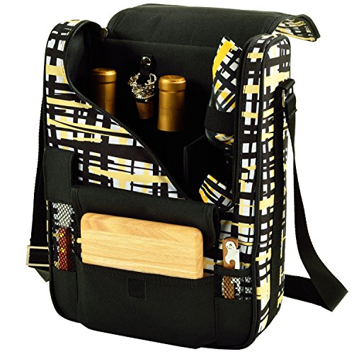 Picnic at Ascot - Wine Carrier Deluxe with Glass Wine Glasses and Accessories for Two - Paris by Picnic at Ascot