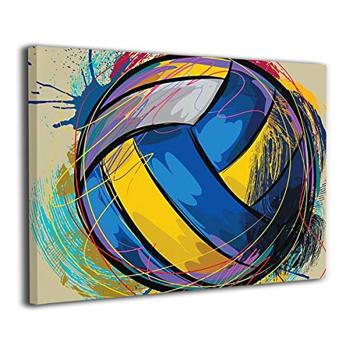Baker Back Love Volleyball Just Volleyball Painted Canvas Prints for Home Decorations Wall Art Decor Paintings Decorative Modern Seascape Abstract ()