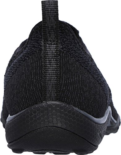 Skechers Women's Relaxed Fit Breathe Easy Fortune-Knit Slip-On,Black,US 5 W by Skechers (Image #4)