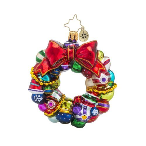 Christopher Radko Joyful Wreath Little Gem Wreath Christmas ()