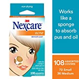 Nexcare Acne Cover, Invisible, Hydrocolloid Technology, Drug-Free, 108 count