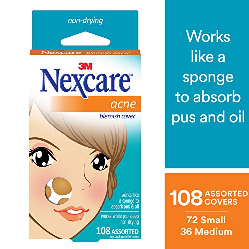Nexcare Acne Cover, Invisible, Drug-Free, Absorbing, 108 count