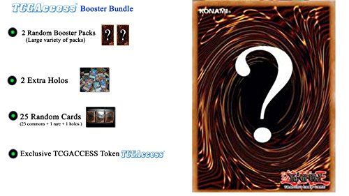 Lisa Leleu Studios Inc Yugioh RANDOM MYSTERY BOOSTER BUNDLE - 2 Booster Packs - 25 card lot - 2 Holos - by TCGAccess