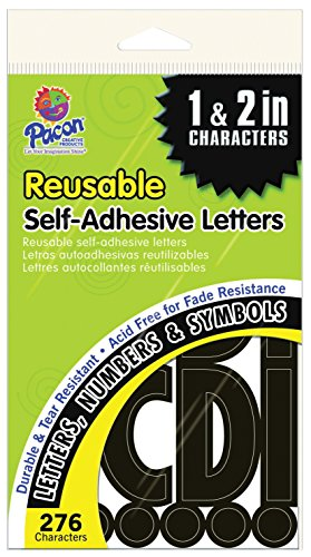 Cut Out Lettering - Pacon Reusable Self-Adhesive Letters
