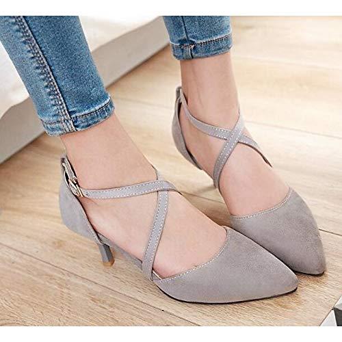 Pump Basic Heel Spring Poliuretano Stiletto Grey Comfort Black de PU Fall Red Gray Mujer Heels amp; Zapatos ZHZNVX xwqgWzfvp