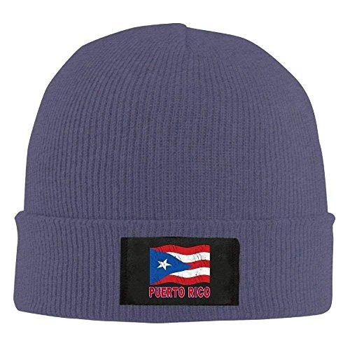 Warm Puerto Beanie Flag Acrylic 100 béisbol Hat Asphalt Rico Gorras Daily Hats Soft Unisex Knit Puerto Rican UqI8wO