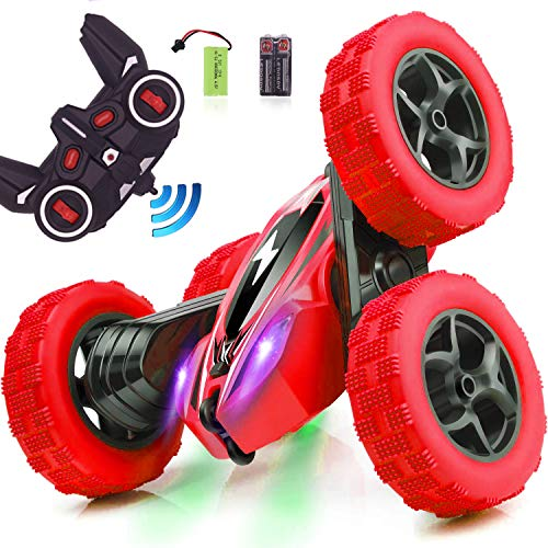 CARRYFLY Remote Control Car RC Stunt Car, Gift idea for Kids 4WD Double Sided Rotating 2.4GHz High Speed Rock Crawler Vehicle