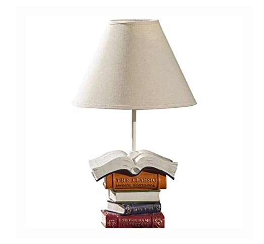Retro Lightminimalist Resin Book Table Lamp Dome Linen