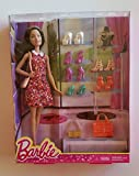 Brunette Fashionista Barbie Doll with 7 pairs of shoes & 3 fashion bags