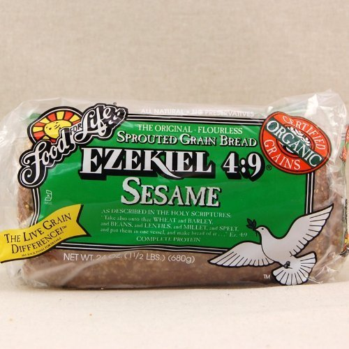 Food for Life Organic Ezekiel 4:9 Sesame Sprouted Grain Bread