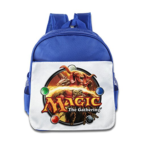 (XJBD Custom Cute Magic The Gathering Kids Schoolbag For 1-6 Years Old RoyalBlue )