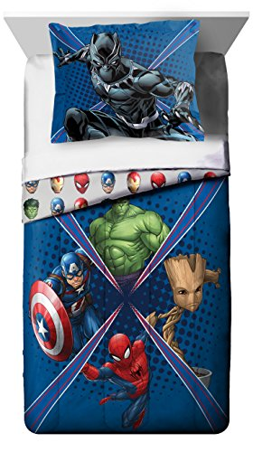 Price comparison product image Marvel Universe Battlefront Reversible Twin/Full Comforter & Sham 2 Piece Set