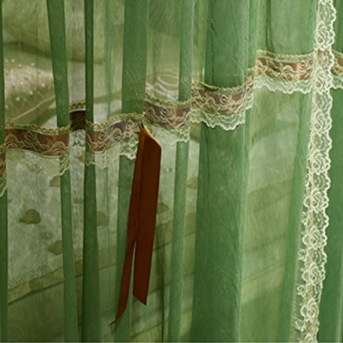 KE & LE 4 Corners Tent Mesh Canopy Curtains with Bottom Curtains for Girls, Cozy Drape Mosquito Net Openings Mosquito Tent Cute Princess Bedroom Decoration Accessories-b W:180cmxh:210cmxd:220cm by KE & LE (Image #3)